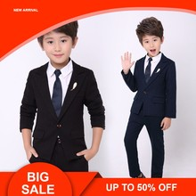 d39877b024 Wedding Blazer Suit Flower Boys Formal Anzug Tuxedos School Suit Jackets  Pants 2Pcs Children Prom Costume Dress Groom Suits