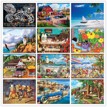 New 5D DIY diamond painting cartoon landscape embroidery cross stitch round mosaic home decoration