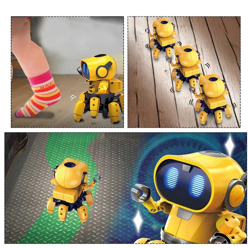 AI Intelligent Robot à monter soi-même enfants bricolage éducation modèle ensemble d'assemblage marche parler jouet Robot enfants interactif jeu Robot - 6
