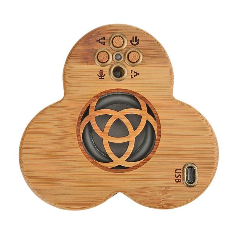 1Set Bamboo Wireless Bluetooth Speaker Sound Box Loudspeaker Stereo Bass HIFI Music MP3 Palyer Subwoofer
