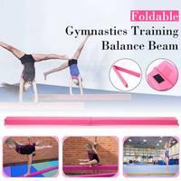 2018 New Folding Balance Beam Women Balance Beam Cushion Adult Children's Gymnastics Gym Training Equipment For Somersault