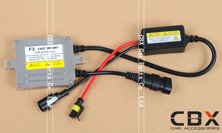 35W 12V AC Fast Start-up Slim HID Bi Xenon Ballast F3 3