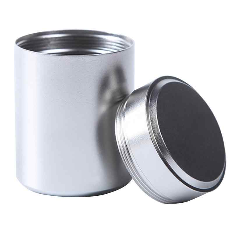 80ml Mini Chá Caddy Armazenamento De Caixas De Alumínio Selado Jar Latas de Café Em Pó Recipiente de Chá de Folhas de Chá de Viagem Portátil Organizador