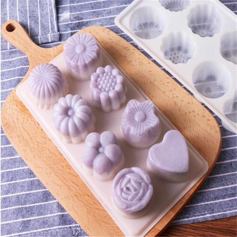 Новый DIY бытовой выпечки плесень пудинг; желе; шоколад мороженое плесень ледяная кожа луна торт выпечки Плесень цветок Форма изготовления плесень