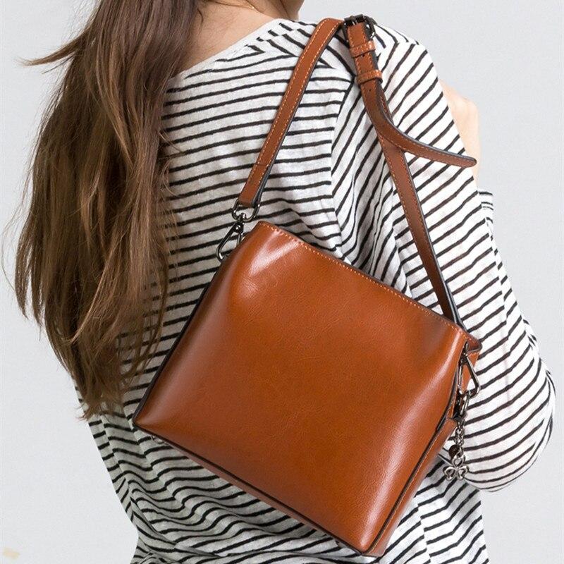 Retro Koe Split Lederen Kleine Tas Vrouw Vierkante Flap Messenger Bag Zip Crossbody Mode Tas Bucklet Riem Handtas Dames - 4