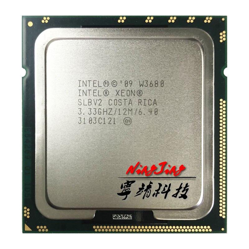 Intel Xeon W3680 3 3 GHz Six Core Twelve Thread CPU Processor 12M 130W LGA 1366