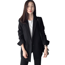 Blazer Jackets For Women Suit Korean Style 2019 Spring Fashion Single Breasted Long Sleeve Blazer Outerwear Jaquetas Feminina high quality fashion blazer women s outerwear long sleeve single breasted fashion versatile slim long small blazer