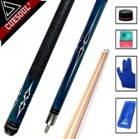 CUESOUL High Quality Maple Billiard Cues Shaft 11.5mm/12.75mm Tips 1/2 Split Pool Billiards Cue Stick 58 Inch
