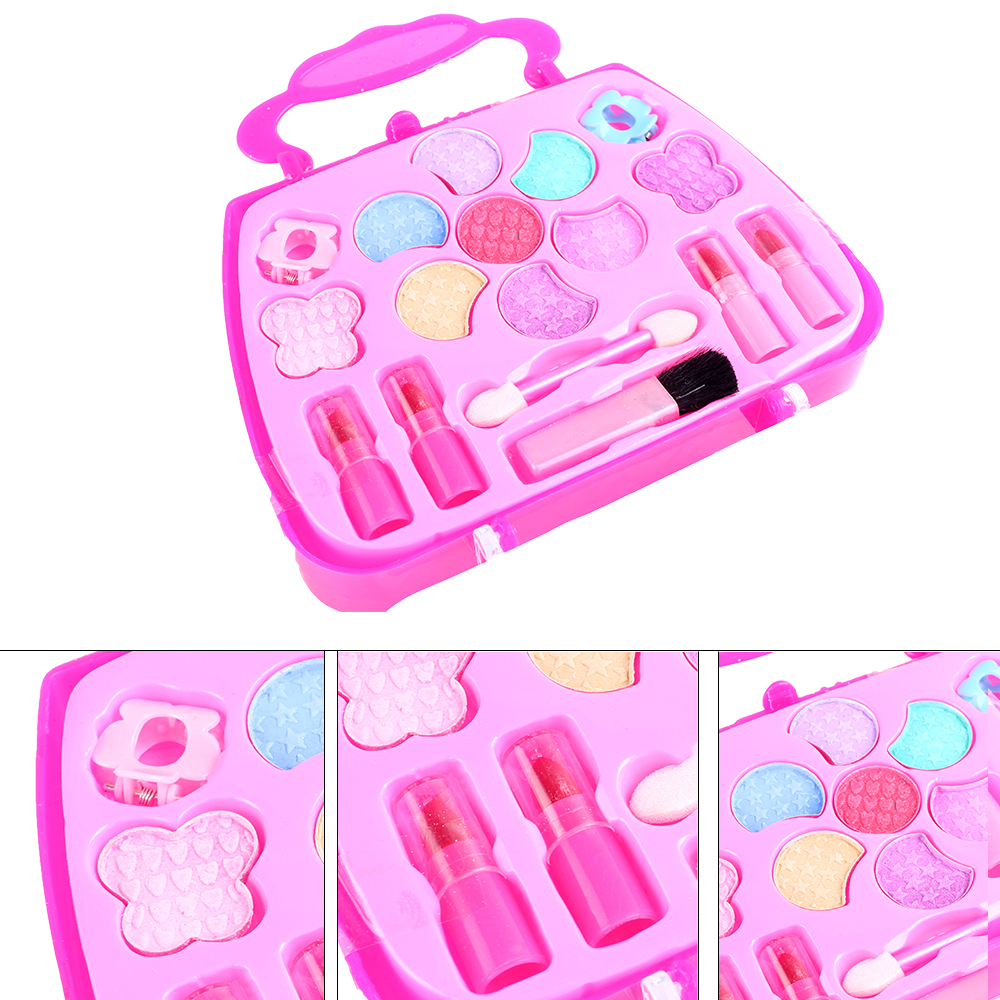 New Pretend Play Girls Cosmetics Kit Toys Makeup Set Preschool Kid Beauty Toy Environmental Safety Toy For Kids Makeup Toys