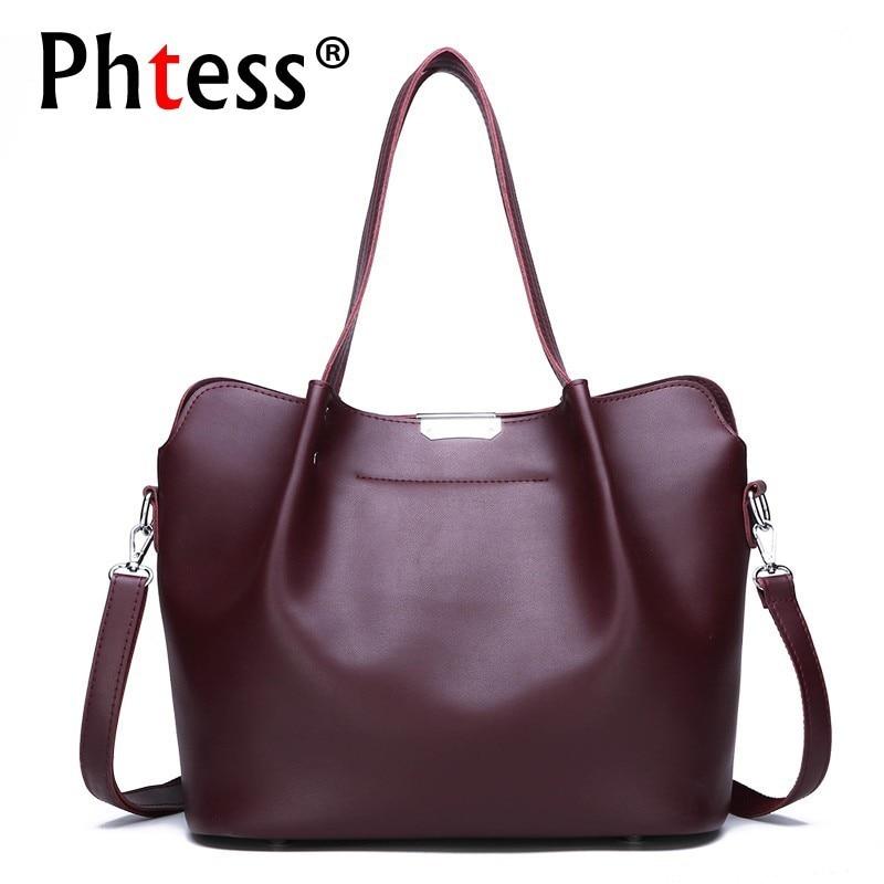 Bolsas de Couro Feminina de Alta Bolsa de Mão Sac a Principal Qualidade Grande Capacidade Tote Bags Bolsas Femininas Senhoras Superior-alça Vintage 2019