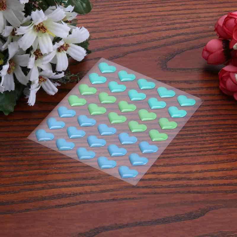 Colorful Heart DIY Self- adhesive Enamel Dots Resin Sticker for Scrapbooking/ DIY Crafts Card Making Decoration Sugar Sprinkles