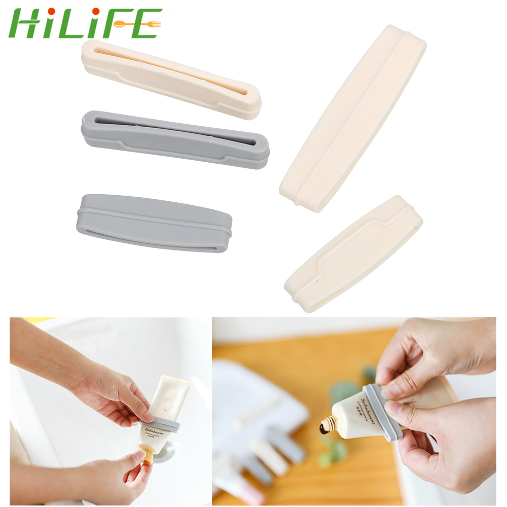 3pcs/set Toothpaste Squeezer Dispenser Manual Cream <font><b>Tube</b></font> Squeezer Easy Extruding Toothpaste Clip Bathroom Products image