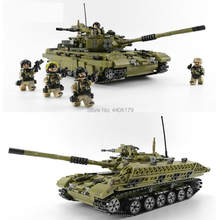 hot LegoINGlys military WW2 army base tank Assault war mini soldier figures bricks MOC Building Blocks toys for children gift(China)