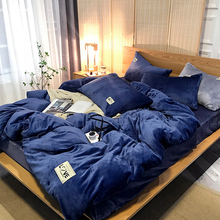 Комплект постельного белья чистый цвет фланелевый, домашний Текстиль King size комплект постельного белья, постельное белье, пододеяльник плоский лист наволочки оптом
