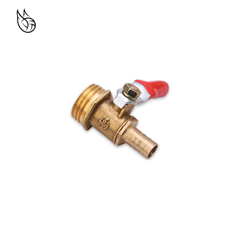 Brass Barbed Ball Valve 4-12 Hose Barb 1/8'' 1/2'' 1/4'' Male Thread Connector Joint Copper Pipe Fitting Coupler Adapter
