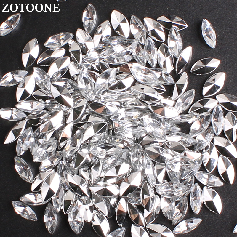 Horse Eye acrylique cristal strass silver cup Claw Chaîne Costume Applique