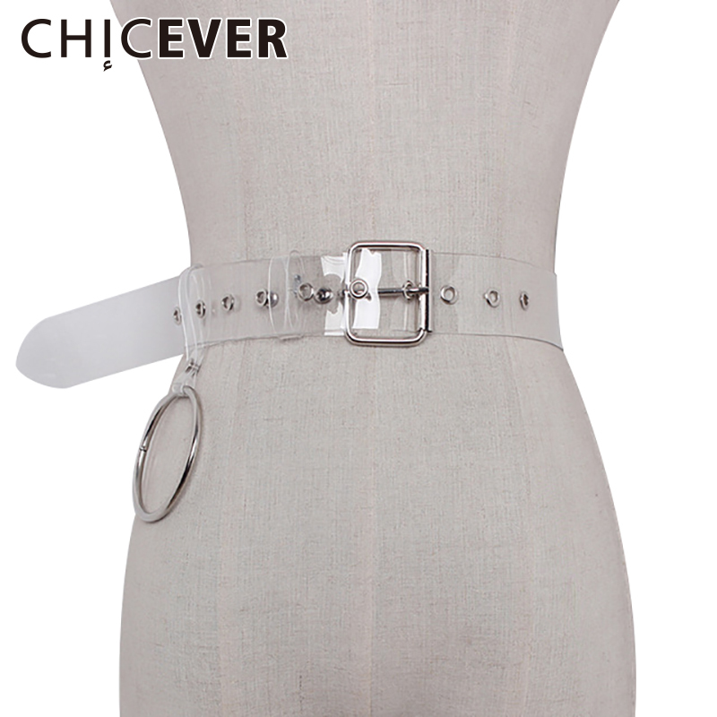 CHICEVER 2017 Summer Silver Ring Pendant PVC Transparent Female Belt Women Casual Fashion Korean Belts|korean belt|female beltbelt f - AliExpress