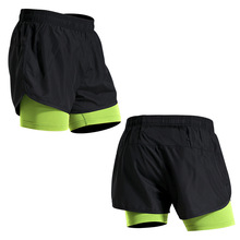 Mens 2 in 1 Running Shorts Gym tights Sports Quick Drying Training Exercise Jogging Cycling with LongerLiner