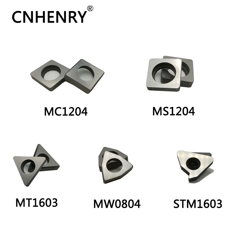 Seats Carbide Inserts WNMG080404 Lathe Turning 10pcs Cemented CNC Shim