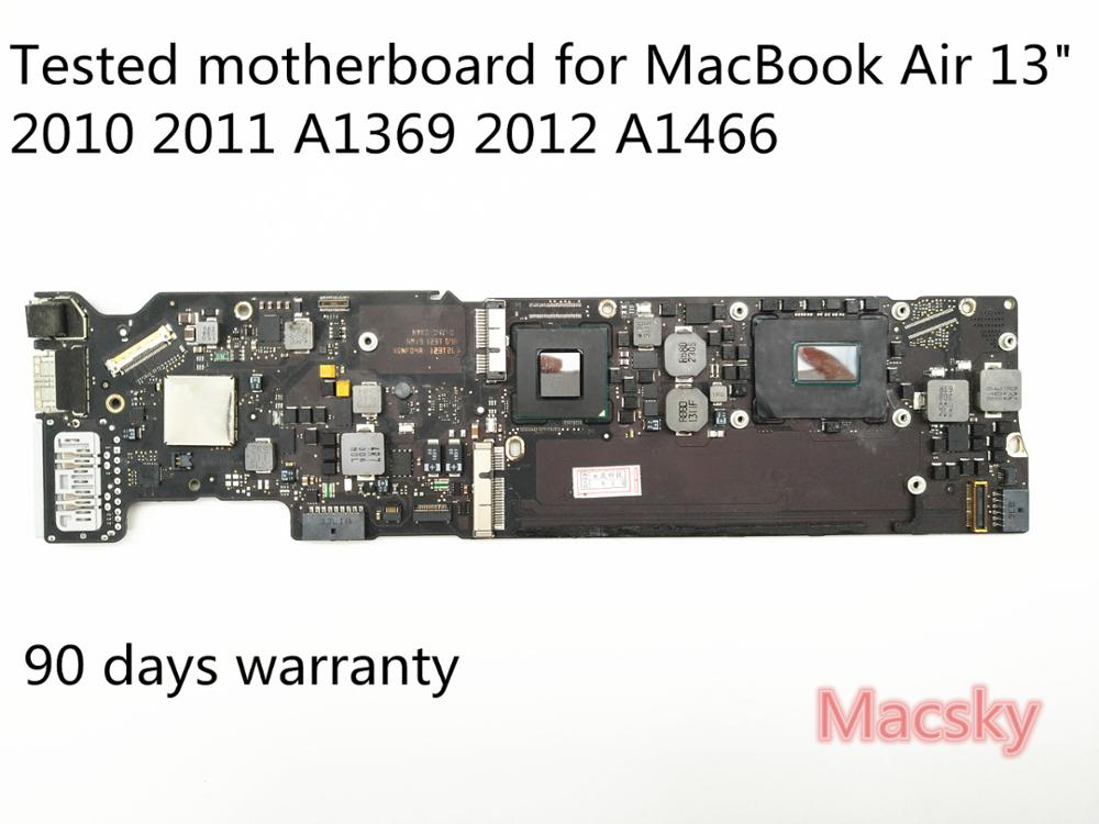 Orignal Tested 2.13GHz Core 2 Duo 1.6GHz 1.7GHz 1.8GHz 4G Logic Board for MacBook Air 13 2010 2011 2012 A1369 A1466 Motherboard hsw rechargeable battery for apple for macbook air core i5 1 6 13 a1369 mid 2011 a1405 a1466 2012