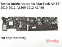Orignal Tested 2.13GHz Core 2 Duo 1.6GHz 1.7GHz 1.8GHz 4G Logic Board for MacBook Air 13 2010 2011 A1369 Motherboard