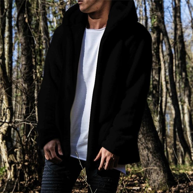 HIRIGIN Newest Men's Winter Slim Casual Warm Hooded Coat Men Jacket Fleece Outwear New Snow Thick Suit Clothes 2
