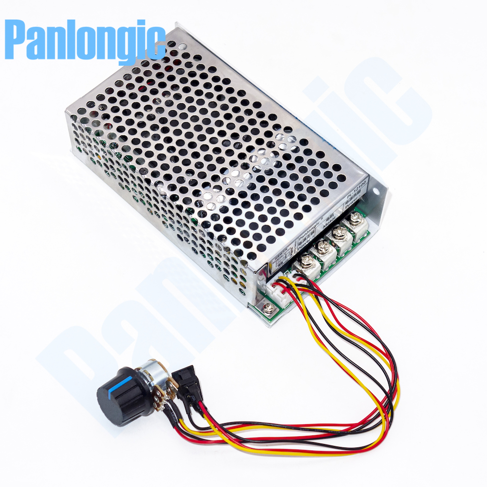 10-50 V 100A 5000 W programmable réversible DC moteur régulateur de vitesse PWM contrôle 12 V 24 V 36 V 48 V avant interrupteur inverse