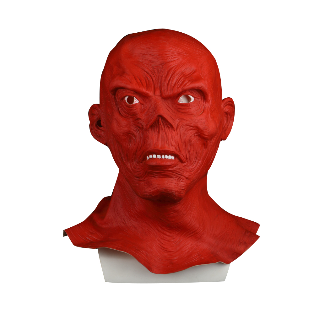 Star Wars Horror Full Head Masquerade Red Skull Hood Latex Mask Halloween Cosplay Zombie Mask New
