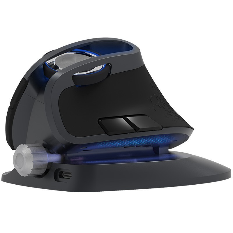 Delux M618X 2.4 Ghz sans fil + Bluetooth 3.0/4.0 multi-mode souris Rechargeable ergonomique Vertical ordinateur USB optique 6D souris - 6