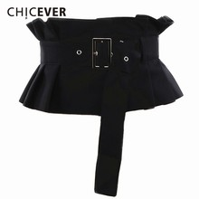 CHICEVER 2019 Spring Autumn Corset Belts For Women Pleated Ruffles Adjustable Wa