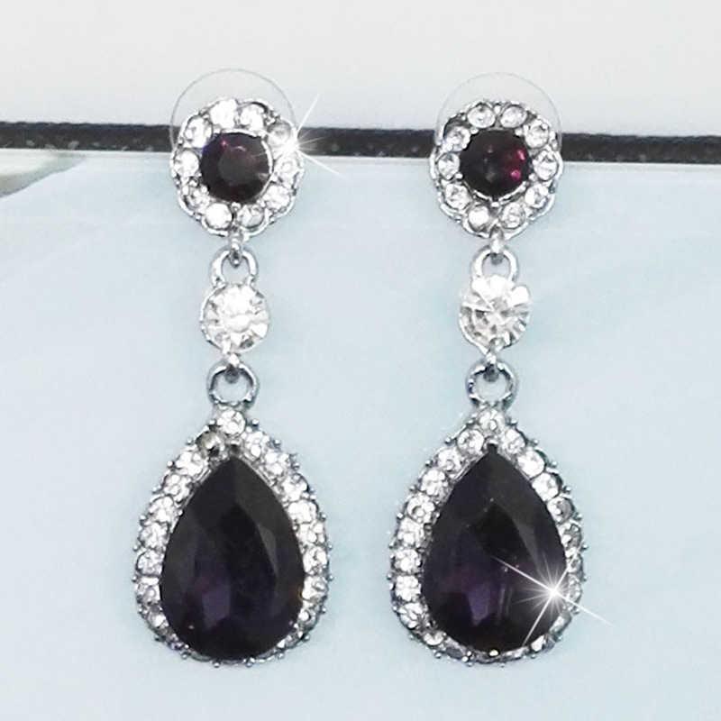 LNRRABC popularne nowe kolczyki czeskie spadek kryształ wisiorek długie kolczyki moda kolczyki dla kobiet 2018 oświadczenie koreański