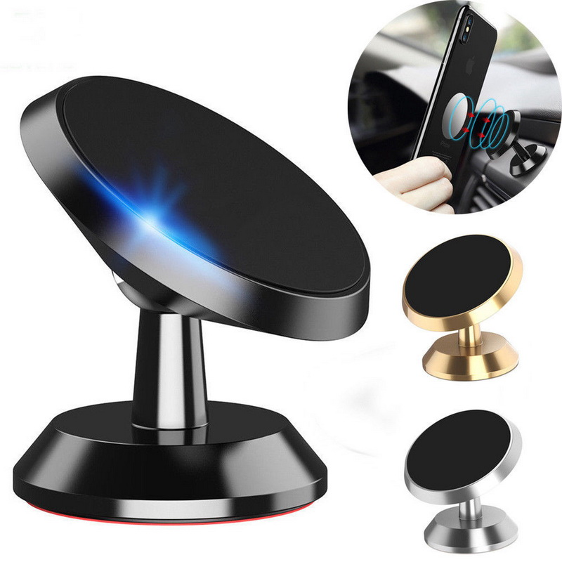 360 Rotation Magnetic Car Mount Cell Phone Holder Stand For iPhone Universal Mobile Phone Car Holder For Samsung/Huawei/Xiaomi