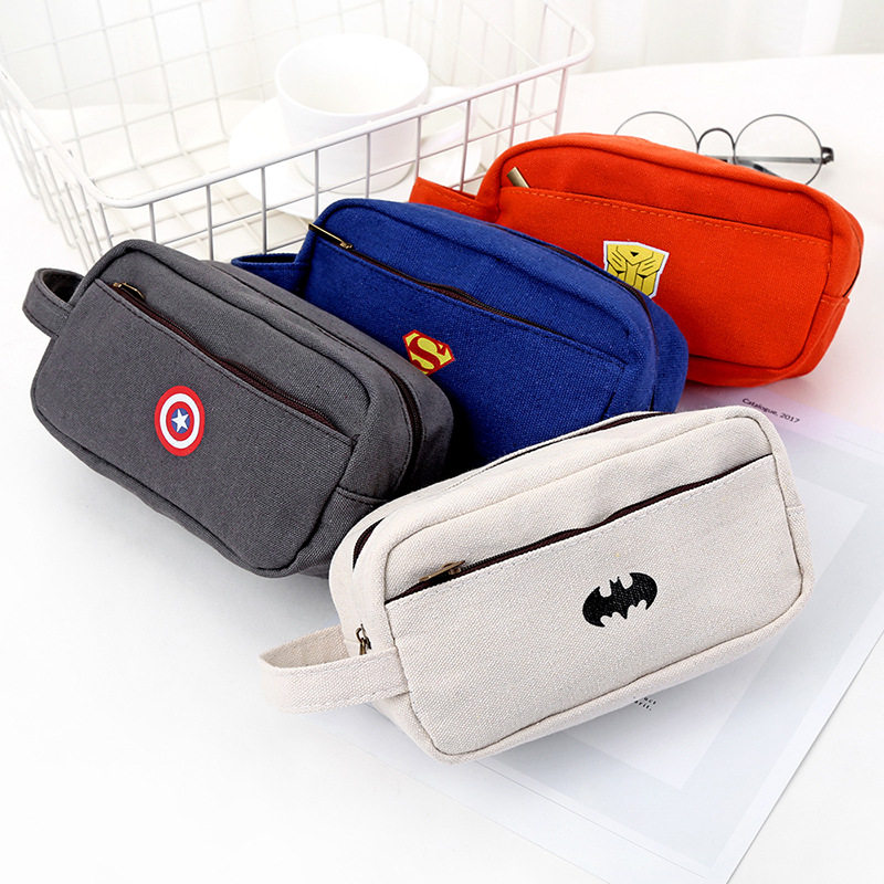 Canvans Pencil Case School Pencil Case Office School Supplies High Capacity Bag For Pen Gift Pen Storage Box Stationery