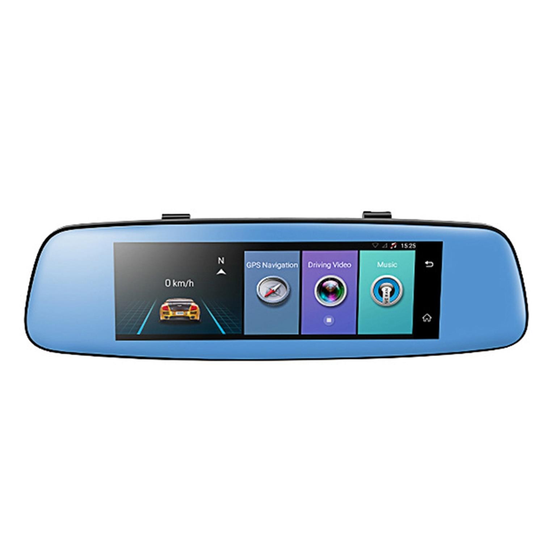 NEW-E06 4G voiture Dvr 7.84 pouces presse Adas moniteur à distance rétroviseur avec Dvr et caméra Android double objectif 1080 P Wifi Das