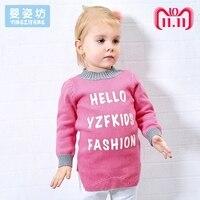 2018 Thick Winter Girls Sweater Warm Toddler Tees Shirt Cartoon Cute Costumes T shirt Children Clothing Tops