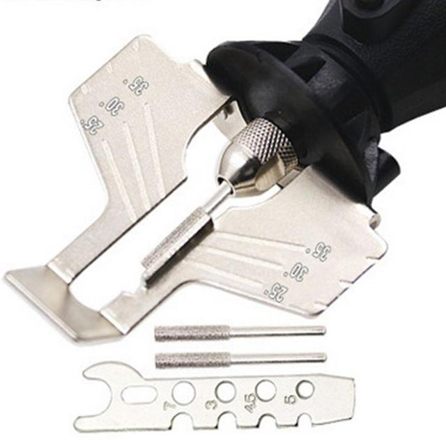 Lanlan afiar acessório acessório acessório serra de corrente ferramentas de moagem do dente com moedor elétrico acessórios ferramentas jardim ao ar livre