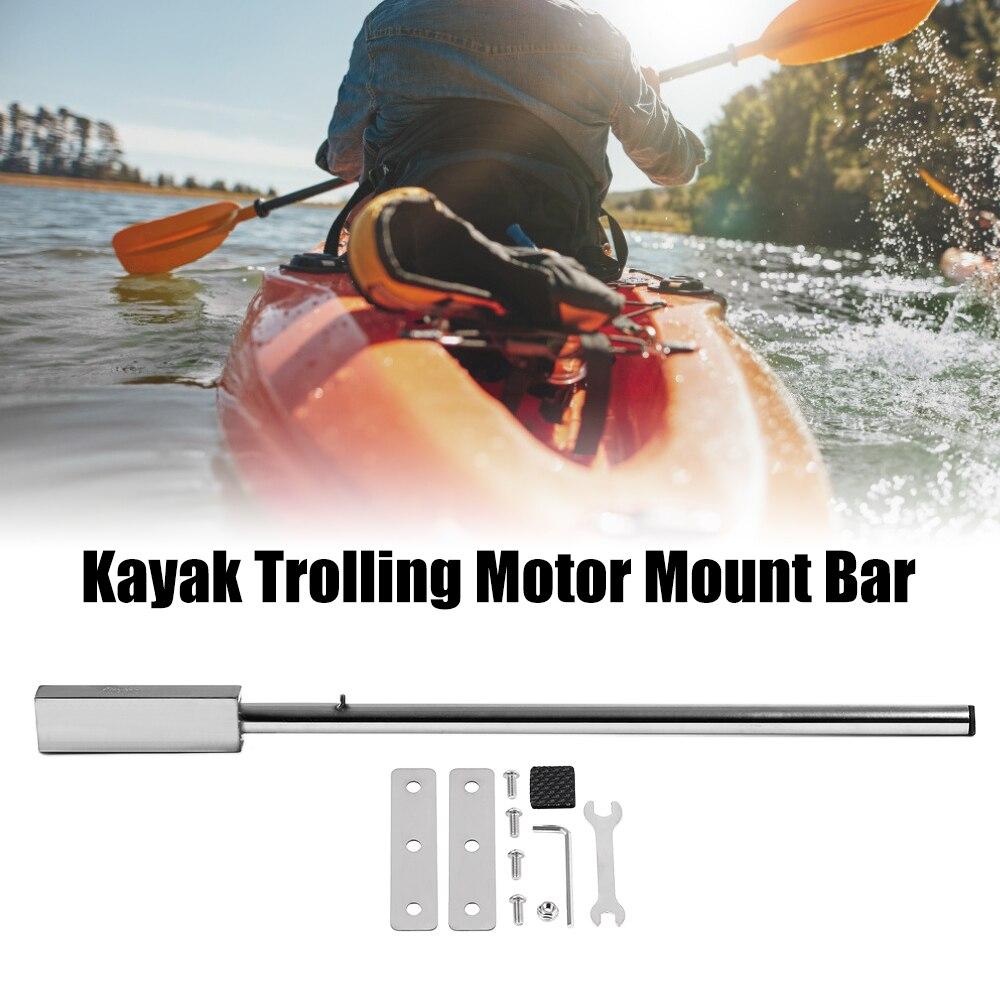 Haute qualité 91 cm acier inoxydable Kayak à la traîne moteur support Bar avec matériel gonflable bateau de pêche Kayak accessoires
