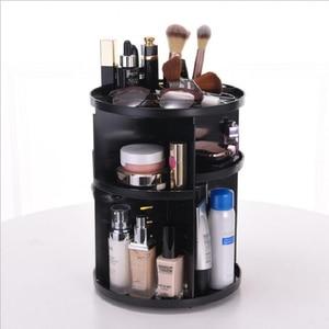 Image 3 - Caja organizadora de maquillaje giratoria de 360 grados, organizador de brochas, caja organizadora de joyería, caja de almacenamiento de cosméticos de maquillaje