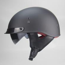 Moto rcycle casco cascos para moto aperto mezzo del fronte harley casco moto jet vintage capacetes de moto ciclista con dual lente Visiere