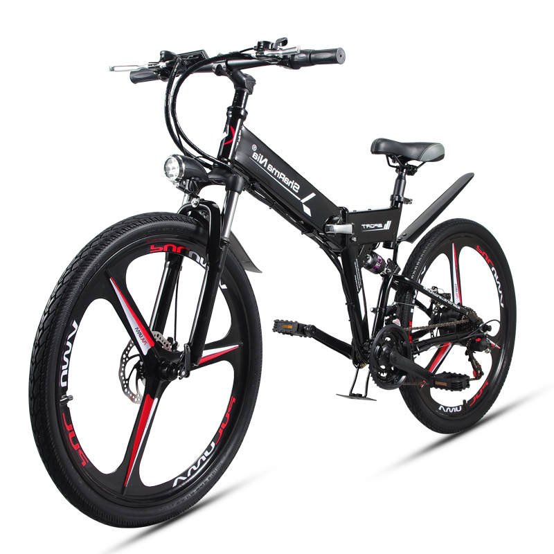Electric-Bike Lithium-Battery Folding Mountain-Bicycle-48v Removable Travel High-Speed