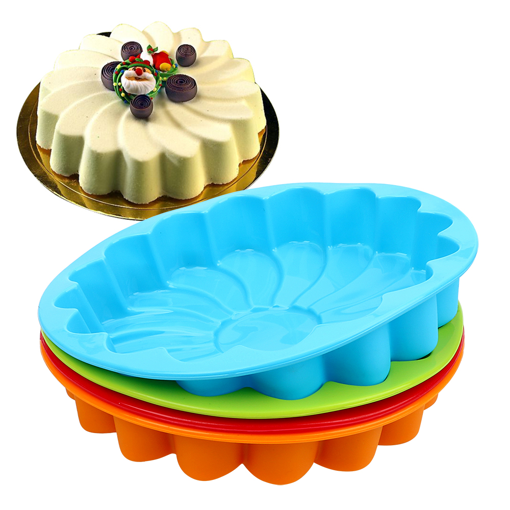Silicone Mold Cake Decorating Tool For Baking Cookie Mould Kitchen Pastry DIY 3D Sunflower Form Fondant Cake