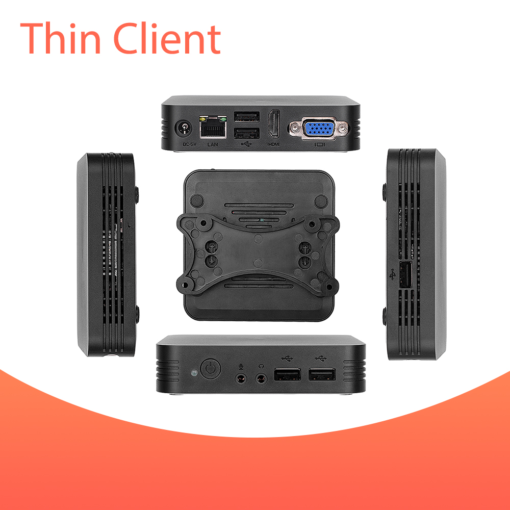 Vmware PCOIP Citrix Thin Client With Quad-core 2.0Ghz CPU Onboard RAM1GB.Flash 8GB,RDP 8.1 Remote FX HD Videos Remote Offices