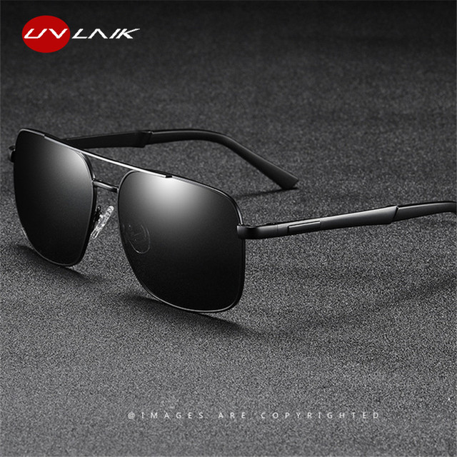 UVLAIK Polarized Sunglasses Men Driving Vintage Sun Glasses With Accessories Box Unisex Goggles UV400 Protection