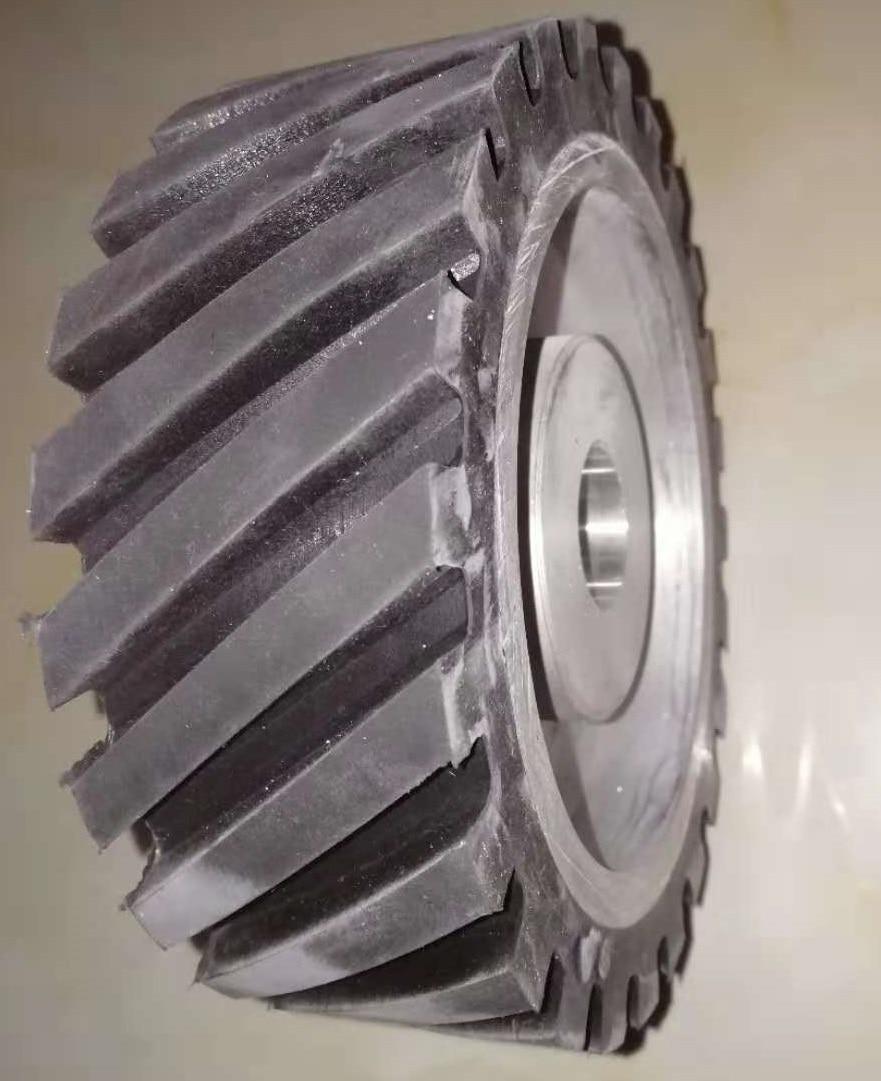 300 75mm Serrated Rubber Wheel Belt Sander Polisher Wheel Sanding Belt Contact Wheel