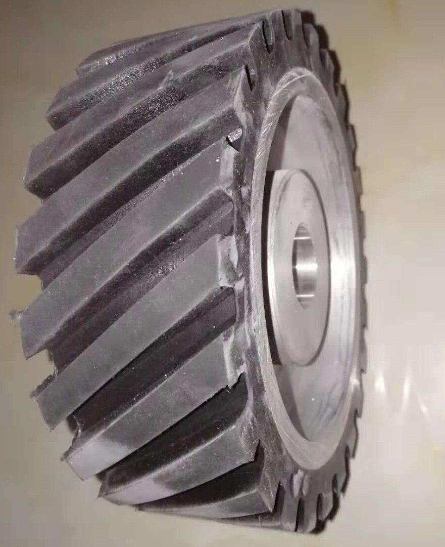 300*75 ミリメートル鋸歯状ゴムホイールベルトサンダーポリッシャーをサンディングベルトコンタクトホイール  グループ上の ツール からの 研磨工具 の中 1