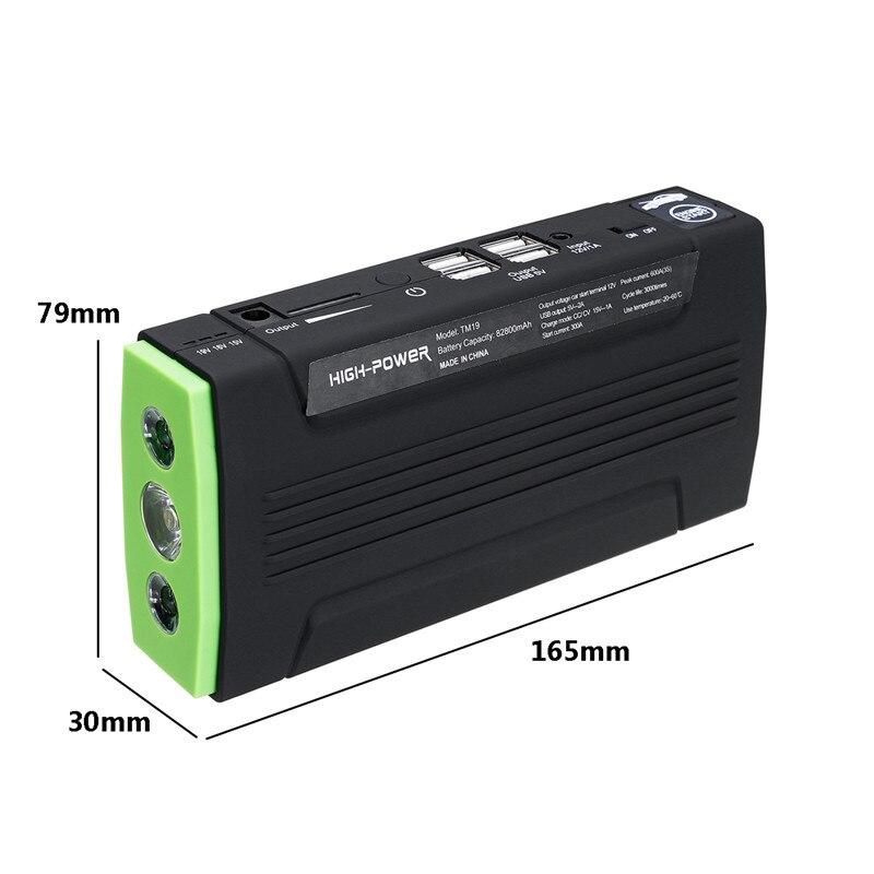 Lecteur Automatique Multi-Fonction Portable 12 V Démarreur Voiture De saut 600 apic 82800 mAh amplificateur de batterie batterie Externe pour chargeur de voiture 4 port usb - 5