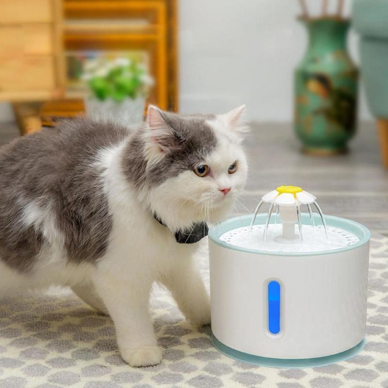 Автоматический водный фонтан для кошек для домашних животных, диспенсер для воды, миска для кошек, автоматический питатель, фильтр для напи...