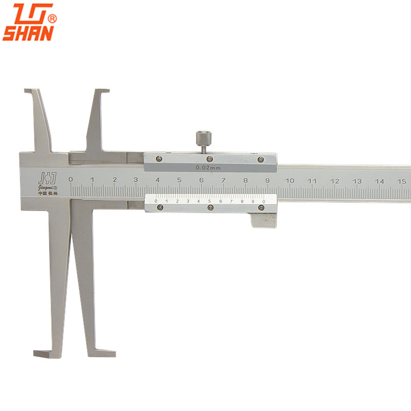 SHAN Inside Groove Vernier Caliper 9-150mm / 0.02 Acero inoxidable Inner Vernier Calipers Double Claw Professional