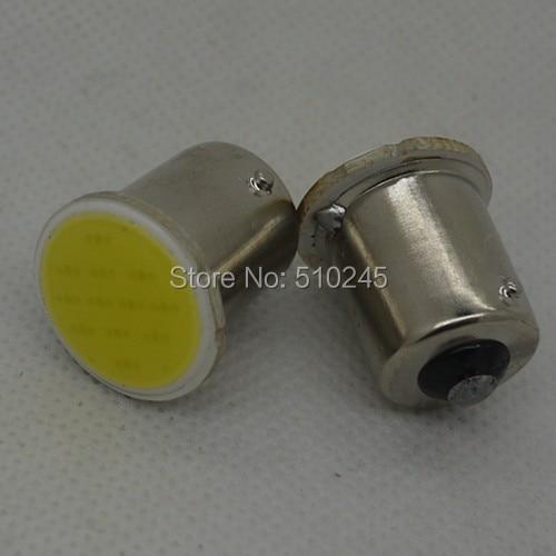 500PCS 12V Car Auto LED S25 1156 BA15S 1 led cob 12chips Light Bulb Lights Lamp
