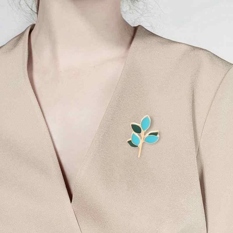 Модные креативные Цветочные Брошь с растительными мотивами для мальчиков и